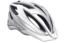 Lazer Helm Clash wei/silber unisize